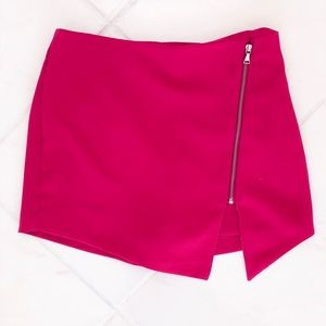 Hot Pink Zipper Skort